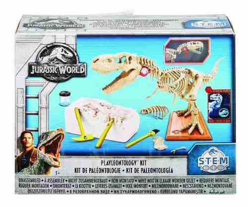 Jurassic World Kit De Paleontologo T Rex Dinosaurio Mattel