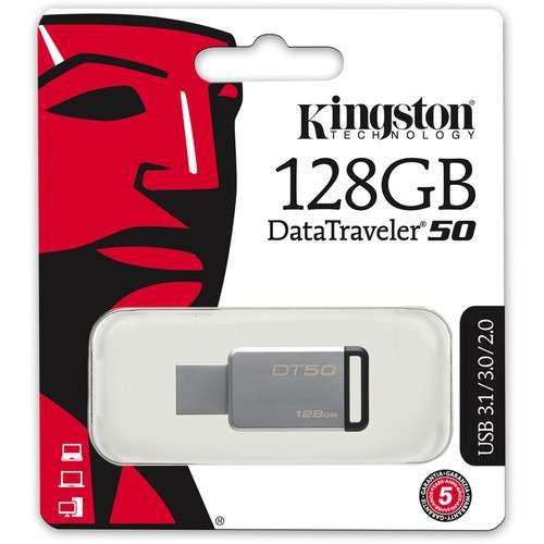 Kingston Memoria Unidad Flash 3.0 Usb Data Traveler 128gb