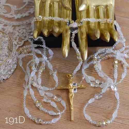 Lazo Matrimonial Boda Con Estuche Cristal Cortado 191d