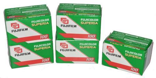 Lote 5 Rollos Fujicolor Superia Asa 100 De 35 Mm Caducados