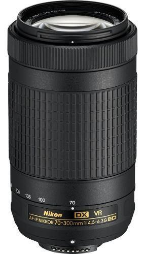 Nikon Dx 70-300mm Af-p F/4.5-6.3g Ed Vr Nuevos Y Sellados.