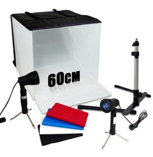 Oferta! Caja Luz Fotografica 60 Cms Kit Fotografico Portatil