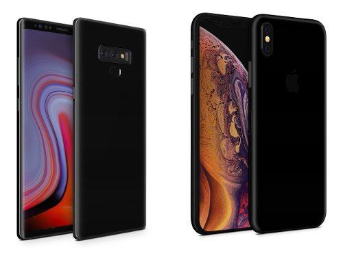 Skin Negro Brillante Apple Samsung Huawei Lg Sony Xiaomi Etc