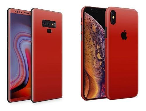 Skin Rojo Mate Para Apple Samsung Huawei Lg Sony Xiaomi Etc