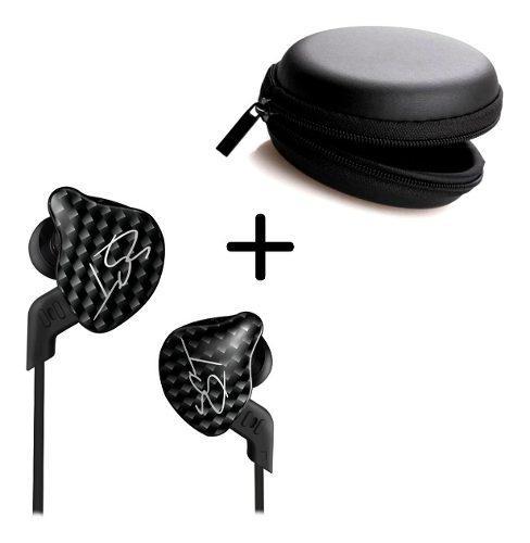 Audífono Monitor Personal Kz Zst In Ear Negro + Estuche