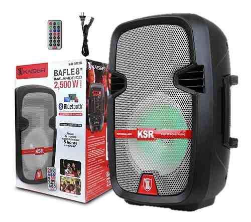 Bafle Bocina De 8 Ksr Bluetooth Recargable Msa-5708