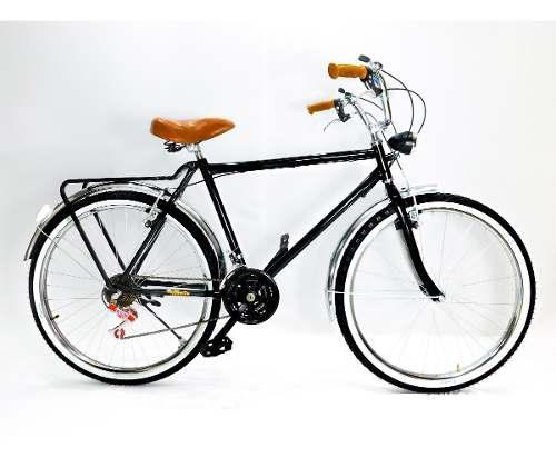 Bicicleta Clásica Urbana Faro Y 18 Velocidades C/tu Nombre