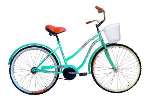Bicicleta Infantil Vintage Cruiser Rodada 20 Canasta Niña