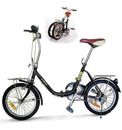 Bicicleta Plegable Krock R16 Ligera Retro Vintage Msi
