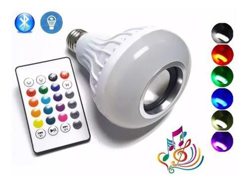 Bocina Bluetooth Foco Led Multicolor Control Remoto