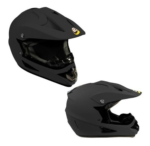 Casco Tipo Cross Bmx Negro Mate Certificacion Dot Tallas