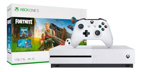 Consola Xbox One S 1tb 4k Blu-ray Control Fortnite Nueva