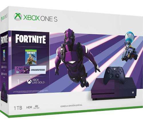 Consola Xbox One S 1tb Edición Especial Fortnite Purpura