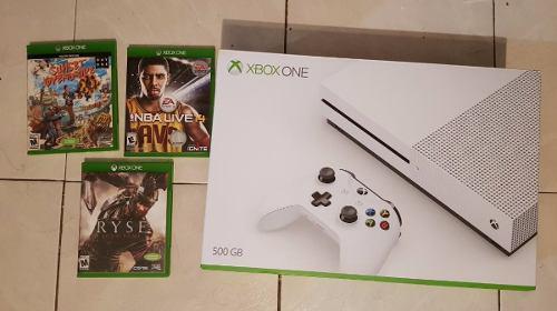 Consola Xbox One S 500gb Con Juegos Cambios Precio Negociabl