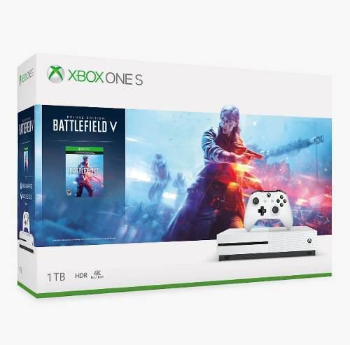 Consola Xbox One S Battlefield V Microsoft 1tb 4k + Gold