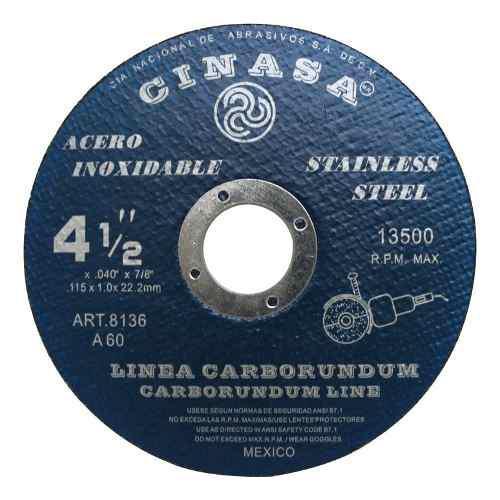 Disco De Corte Acero Inox, 8136 Marca Cinasa