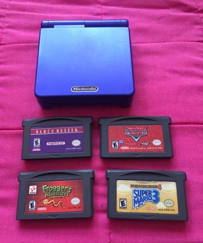 Game Boy Advance Sp(super Mario 3, Frogger´s, Cars,