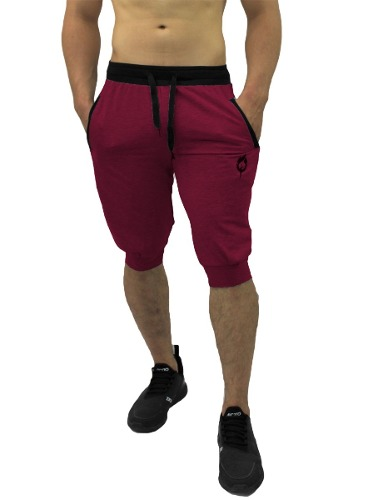 Jogger 3/4 Pants Tipo Jogger Deportivo Slim Fit Colores