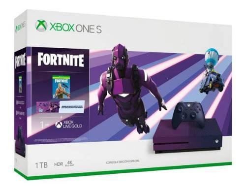 Nueva Consola Xbox One S 1tb Morada Fortnite Edic Limitada