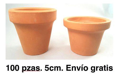 Paquete 100 Macetas De Barro O Cajetes De 5cm, Miniatura