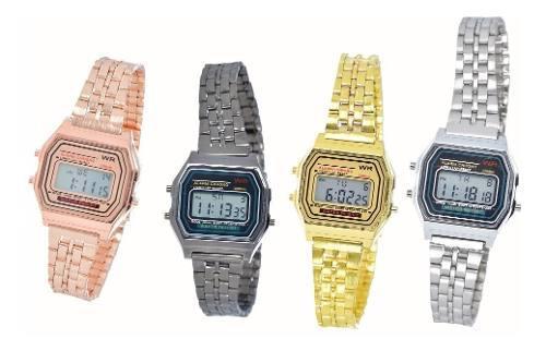 Reloj A168 Dorado Digital Mini