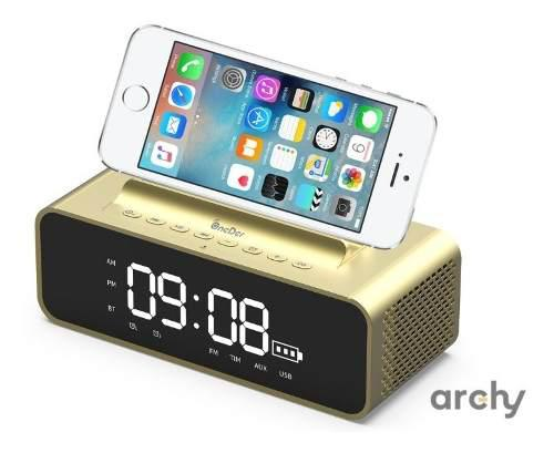 Reloj Despertador Digital Bocina Bluetooth Potente Subwoofer