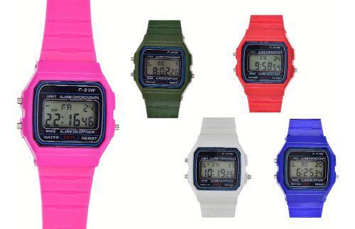 Reloj Digital F-91 Mayoreo Colores