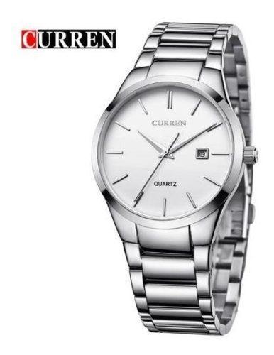 Reloj Marca Curren Acero Inoxidable Metálico Al Mejor
