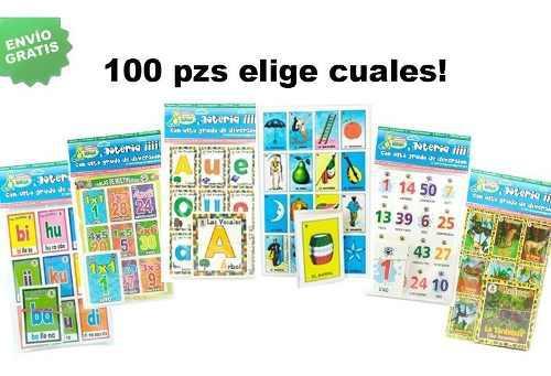 100 Loterías Didácticas, Elige Los Modelos! ¡envío