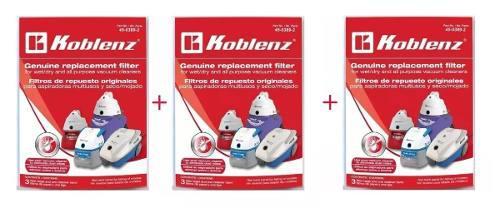 9 Filtros Koblenz Originales Con 3ligas De Soporte 45-0389-2