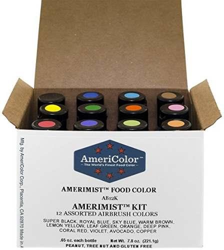 Americolor Amerimist Kit Del Aerógrafo Del Color De