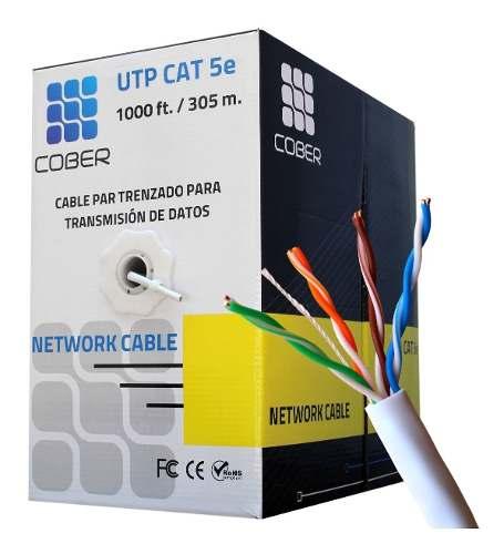 Cable Red Utp Cat 5e 305 Metros Rj45 Cober Red Cctv