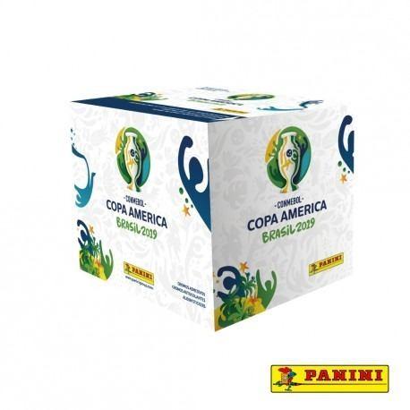 Caja Con 50 Sobres (250 Estampas) Copa America Brasil