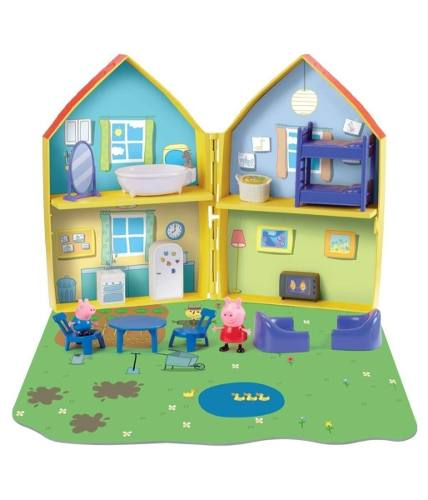 Casa De Juegos De Peppa Pig Con 2 Figuras Y Tapete Nueva