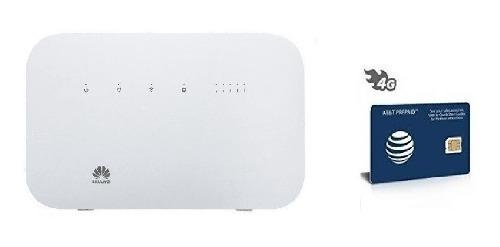 Combo Modem Huawei B612s 4.5g Lte Cat 6 Y Sim At&t Ilimitado