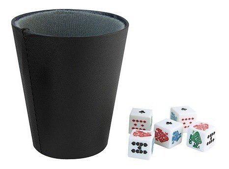 Juego Cubilete Curpiel Con 5 Dados Fiesta Diversión Poker