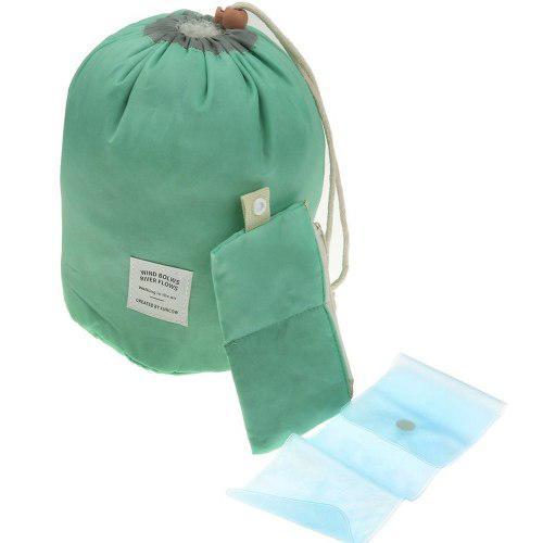 Bolsa Maleta Cosmetiquera Organizadora De Viaje Verde H8074