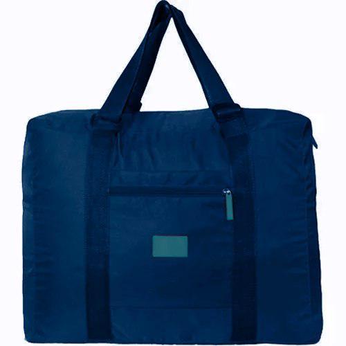 Bolsa Mochila Azul Plegable De Viaje Impremeable M2961