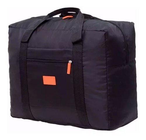 Bolsa Mochila Negra Plegable De Viaje Impremeable M2961