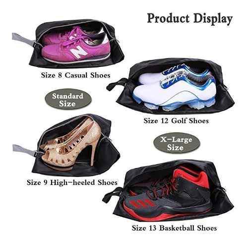 Bolsa Para Zapatos Negra Para Viajes 4 Pack ¡ Impermiable !