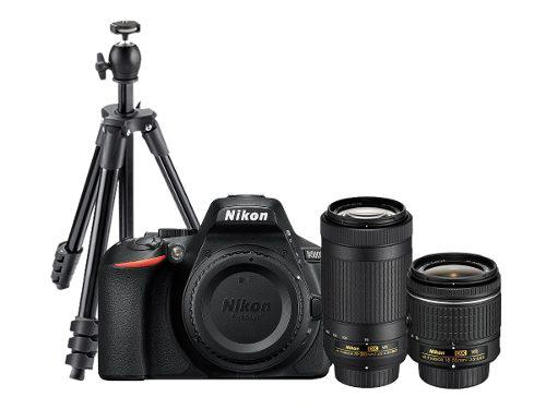 Camara Nikon D5600 + Lente 18-55mm Vr + 70-300 Vr + Tripie