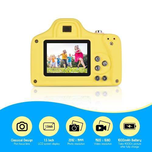 Cámara Digital Para Niños Max. 5 Mega Píxeles 1080p