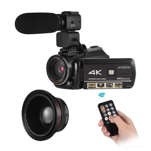 Cámara Vídeo Digital Andoer Ac3 4k Uhd 24mp Con Cámara
