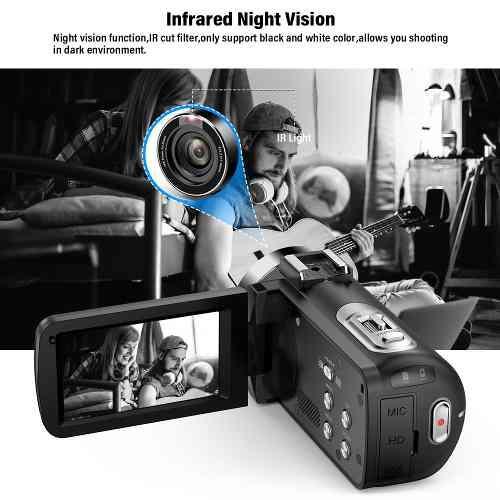 Cámara Vídeo Digital Andoer Fhd 1080p Camecorder