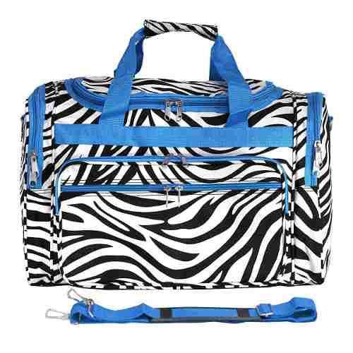 Equipaje 19 -inch Bolso De Viaje Bolsa, Azul Recortar Cebra