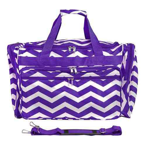 Equipaje 19 -inch Bolso De Viaje Bolsa, Púrpura Blanco Che