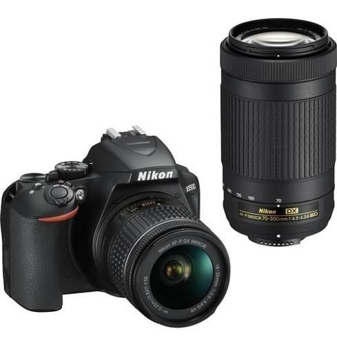 Nikon Cámara Nikon D3500 Con Lente 18-55 Vr/af-p, 70-300mm