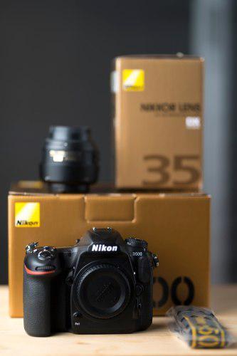 Nikon D500 Cámara Réflex Digital Lente 35mm 1.8