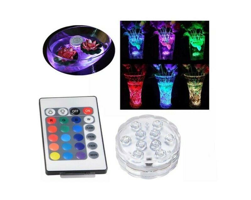 Paquete 2 Luz Led RGB Contra Agua Con 10 Leds