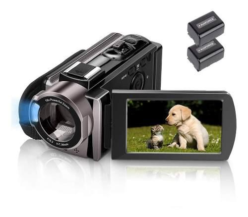 Videocamara Hd 1080p 24mp 16x Digital Zoom Con 2 Baterias